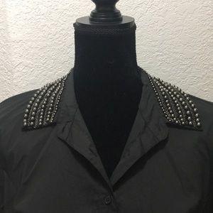 Boston Proper black blouse Size 12